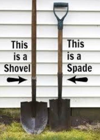 Difference Between Spade & Shovel
